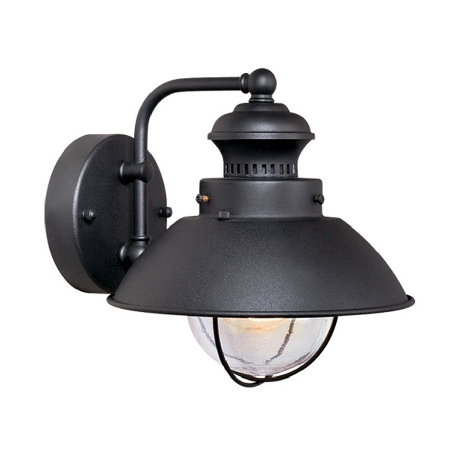 Shop Cascadia Lighting Nautical 8 In H Textured Black Outdoor Wall For Most Recently Released Nautical Outdoor Wall Lighting (View 16 of 20)