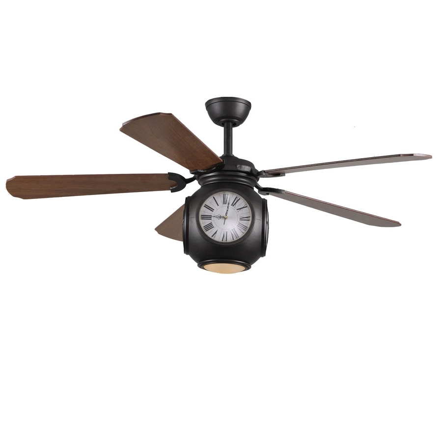 Shop Harbor Breeze 52 In Rock Hall Oil Rubbed Bronze Ceiling Fan In Most Popular Outdoor Ceiling Fans Lights At Lowes (View 16 of 20)