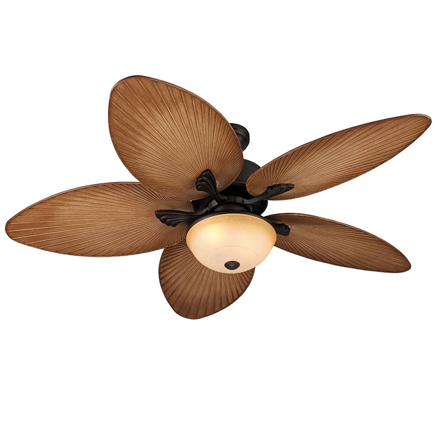Shop Harbor Breeze Chalmonte 52 In Oil Rubbed Bronze Indoor/outdoor Regarding 2019 Outdoor Ceiling Fans With Lights At Lowes (View 16 of 20)