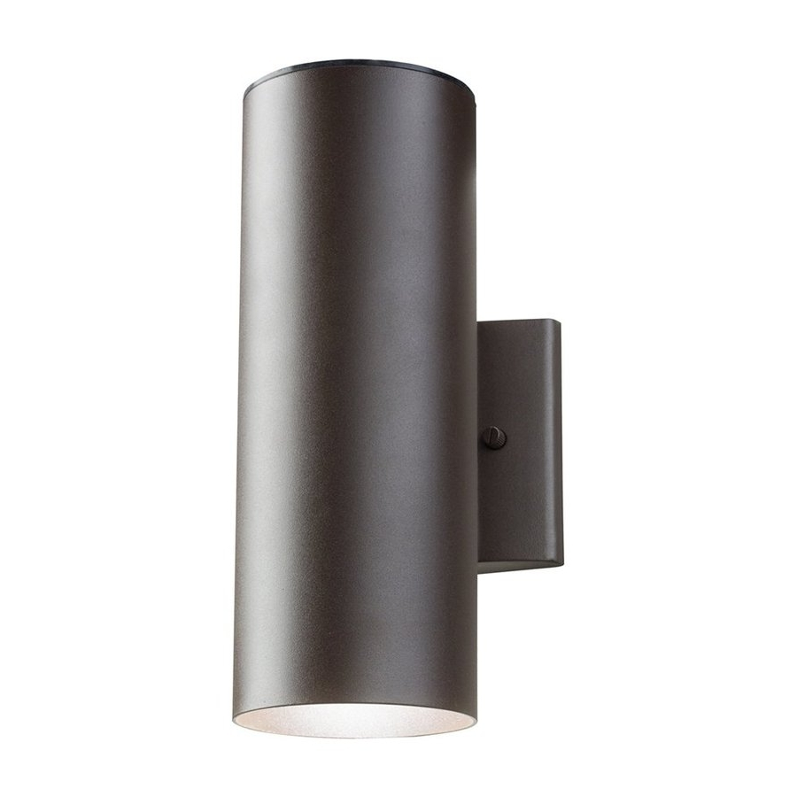 Shop Kichler 12 In H Textured Architectural Bronze Led Outdoor Wall Intended For Popular Led Outdoor Wall Lighting (View 11 of 20)