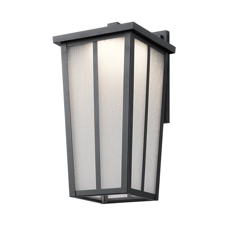 Shop Kichler Amber Valley 15 In H Textured Black Led Outdoor Wall Intended For Current Outdoor Wall Led Kichler Lighting (View 17 of 20)