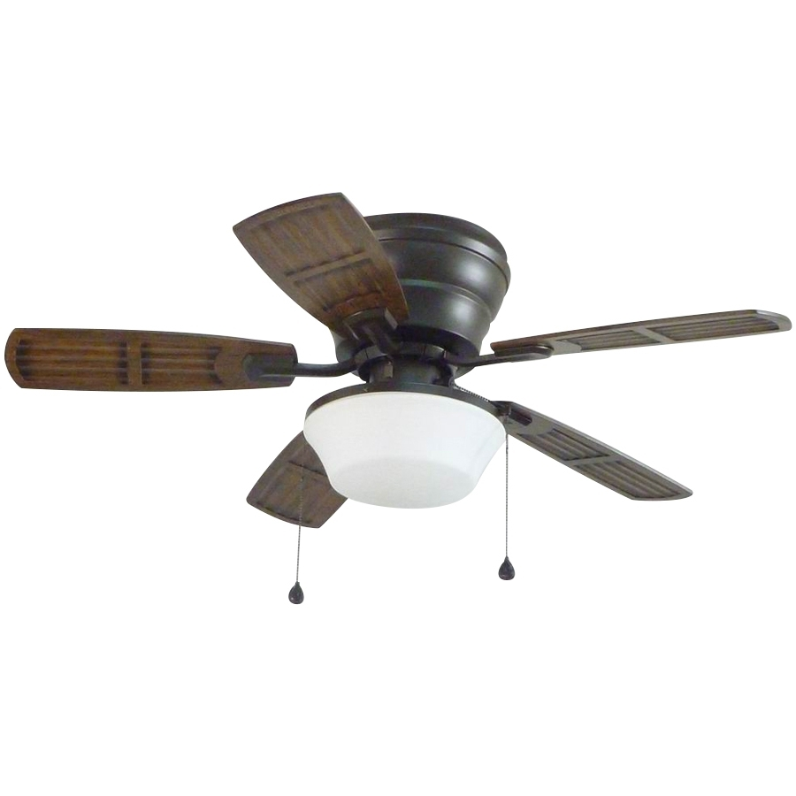Shop Litex Mooreland 44 In Bronze Indoor/outdoor Flush Mount Ceiling With Regard To Well Liked Outdoor Ceiling Fans With Flush Mount Lights (View 20 of 20)