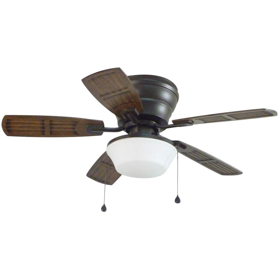Shop Litex Mooreland 44 In Bronze Indoor/outdoor Flush Mount Ceiling With Regard To Well Liked Outdoor Ceiling Fans With Flush Mount Lights (View 5 of 20)