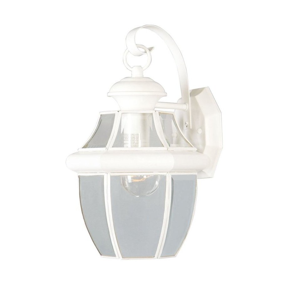 Shop Livex Lighting Monterey 13 In H White Medium Base (e 26 With Regard To Most Current White Outdoor Wall Lights (View 16 of 20)