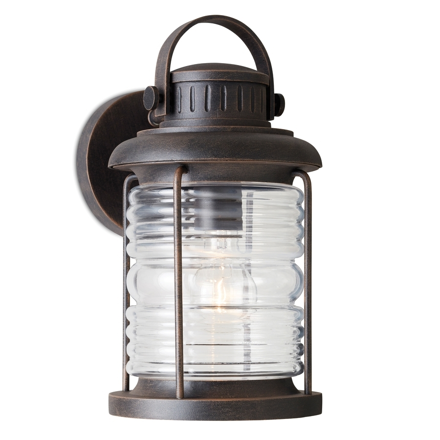 Shop Outdoor Wall Lights At Lowes Throughout Most Recent Stained Glass Outdoor Wall Lights (View 11 of 20)