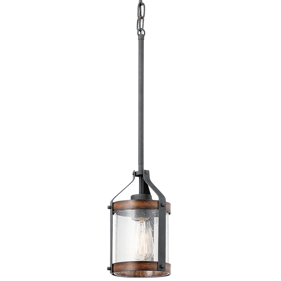 Shop Pendant Lighting At Lowes In Most Recent Modern Outdoor Pendant Cylinder Lighting Fixtures (View 17 of 20)