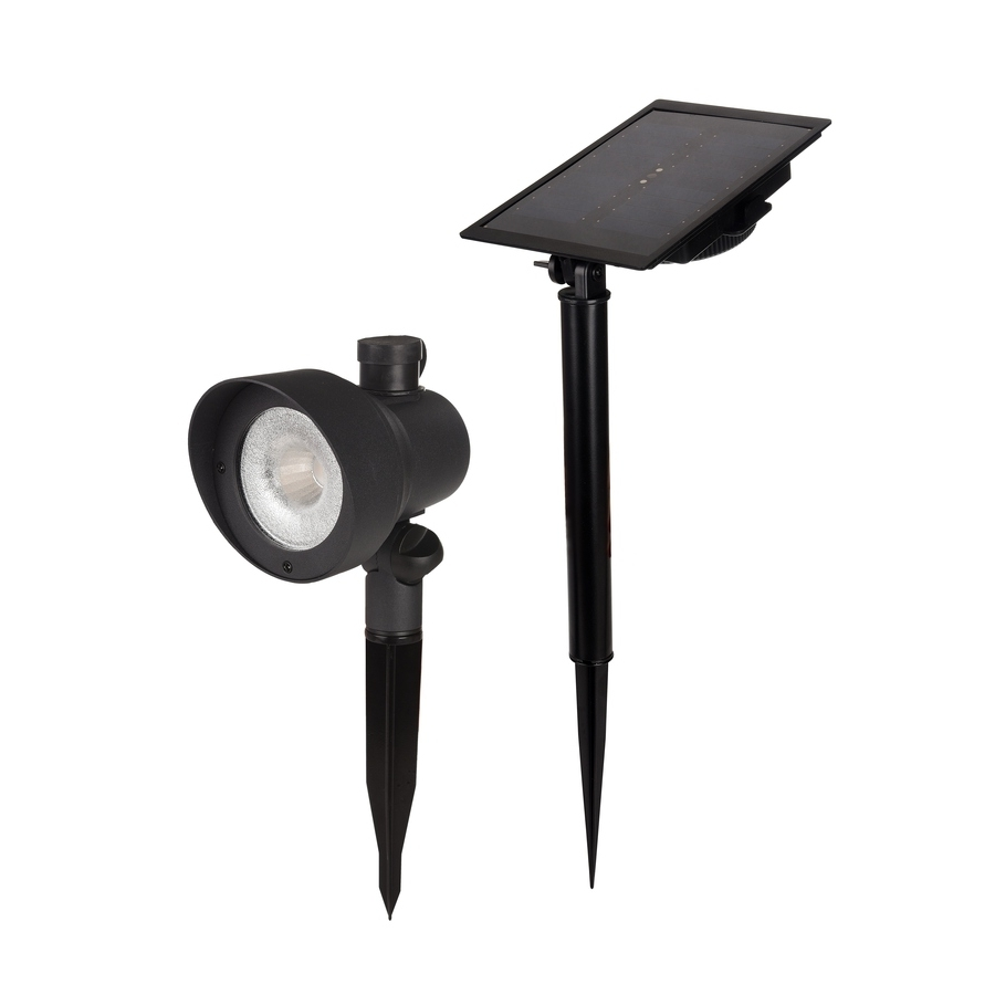Shop Portfolio Black Solar Led Landscape Flood Light At Lowes Throughout Most Up To Date Lowes Outdoor Landscape Lighting (View 17 of 20)