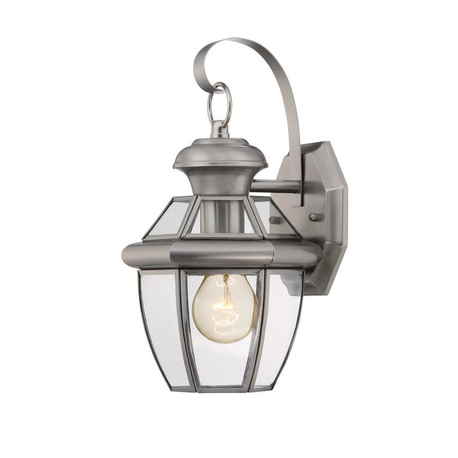 Shop Portfolio Brayden 12 In H Pewter Outdoor Wall Light At Lowes Inside Famous Pewter Outdoor Wall Lights (View 16 of 20)