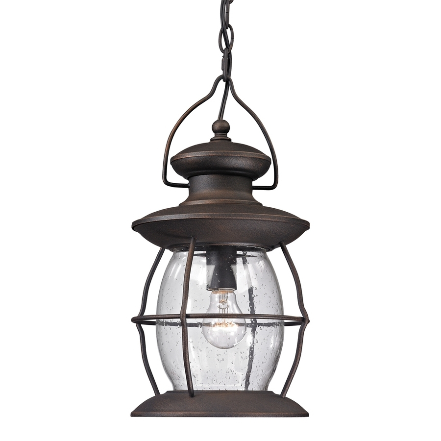 Shop Westmore Lighting Sutter's Mill 17 In Weathered Charcoal Pertaining To Widely Used White Outdoor Hanging Lights (View 20 of 20)