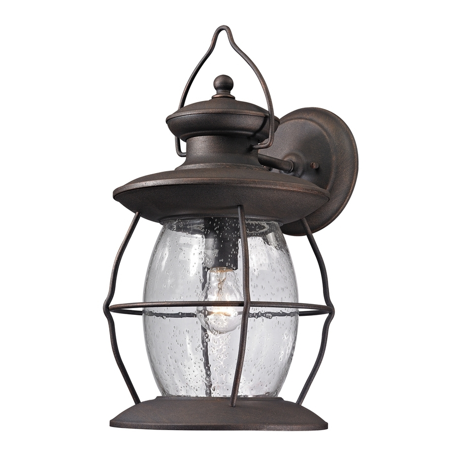 Shop Westmore Lighting Sutter's Mill 18 In H Weathered Charcoal For Trendy Beach Outdoor Wall Lighting (View 9 of 20)