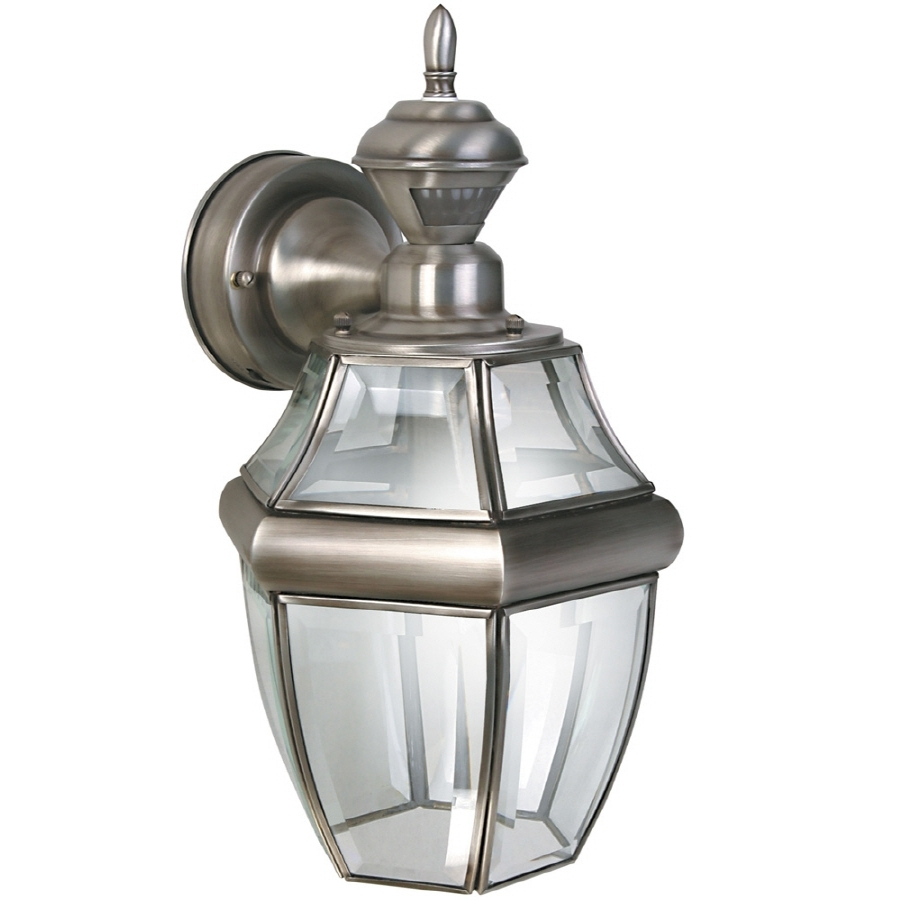 Silver Outdoor Wall Lights Intended For Most Popular Shop Secure Home Hanging Carriage (View 6 of 20)