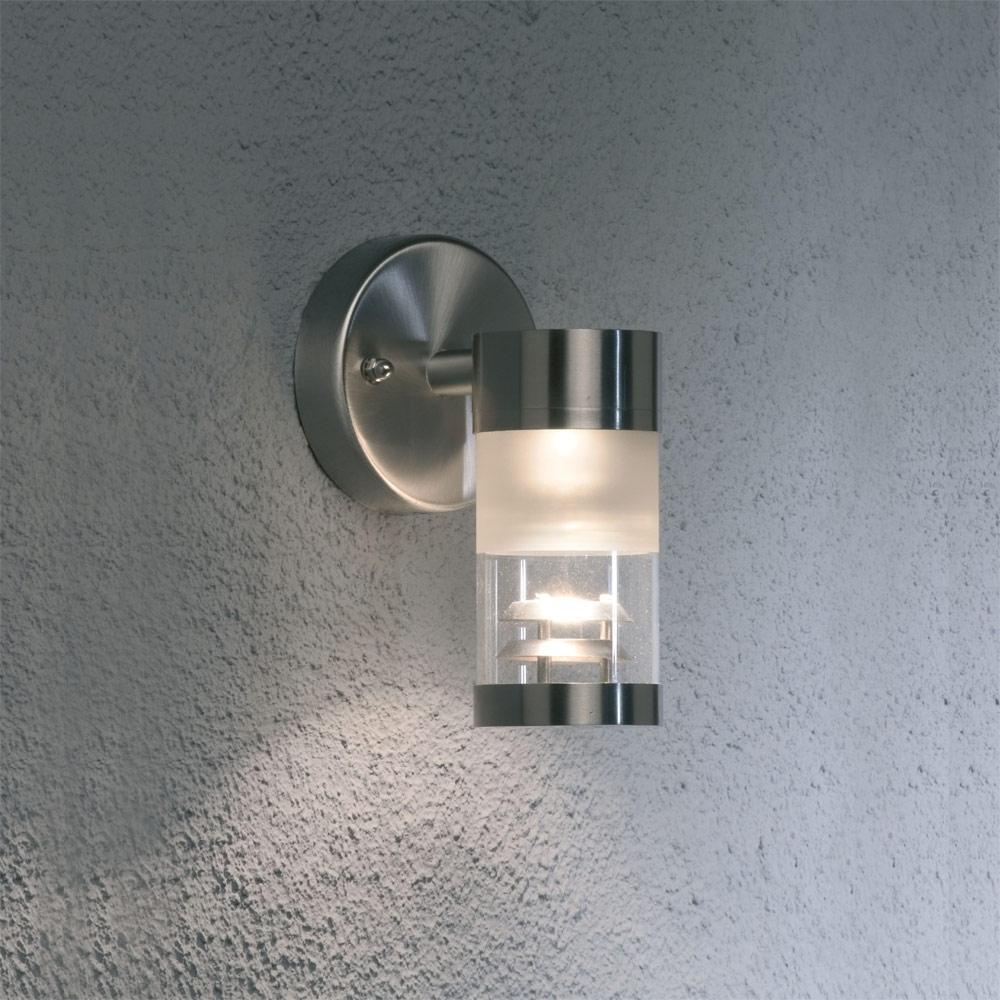 Silver Outdoor Wall Lights Regarding Trendy Light : Superb Modern Mounted Wall Outdoor Lighting Ideas Presenting (View 18 of 20)