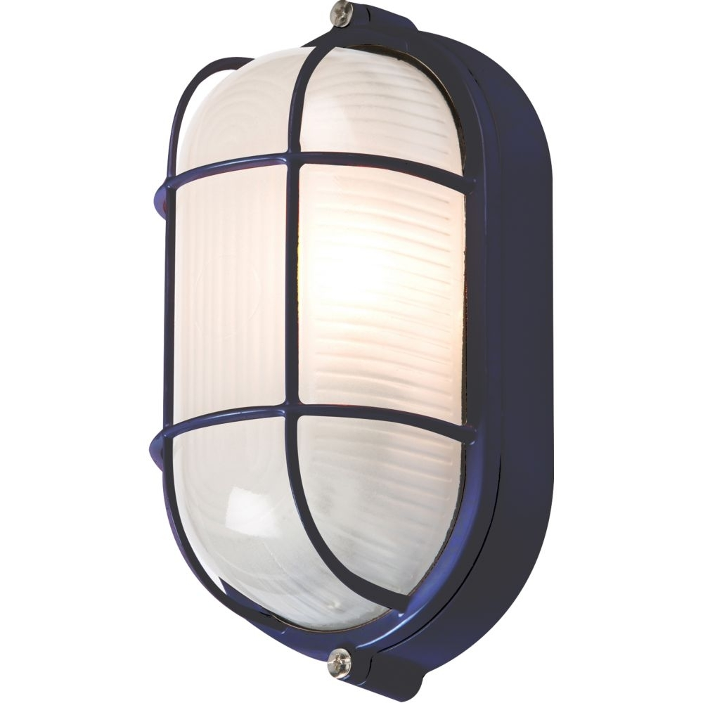 Singapore Outdoor Wall Lighting For Most Recently Released 60 Watt Outdoor Black Oval Bulkhead With Wire Guard (View 11 of 20)