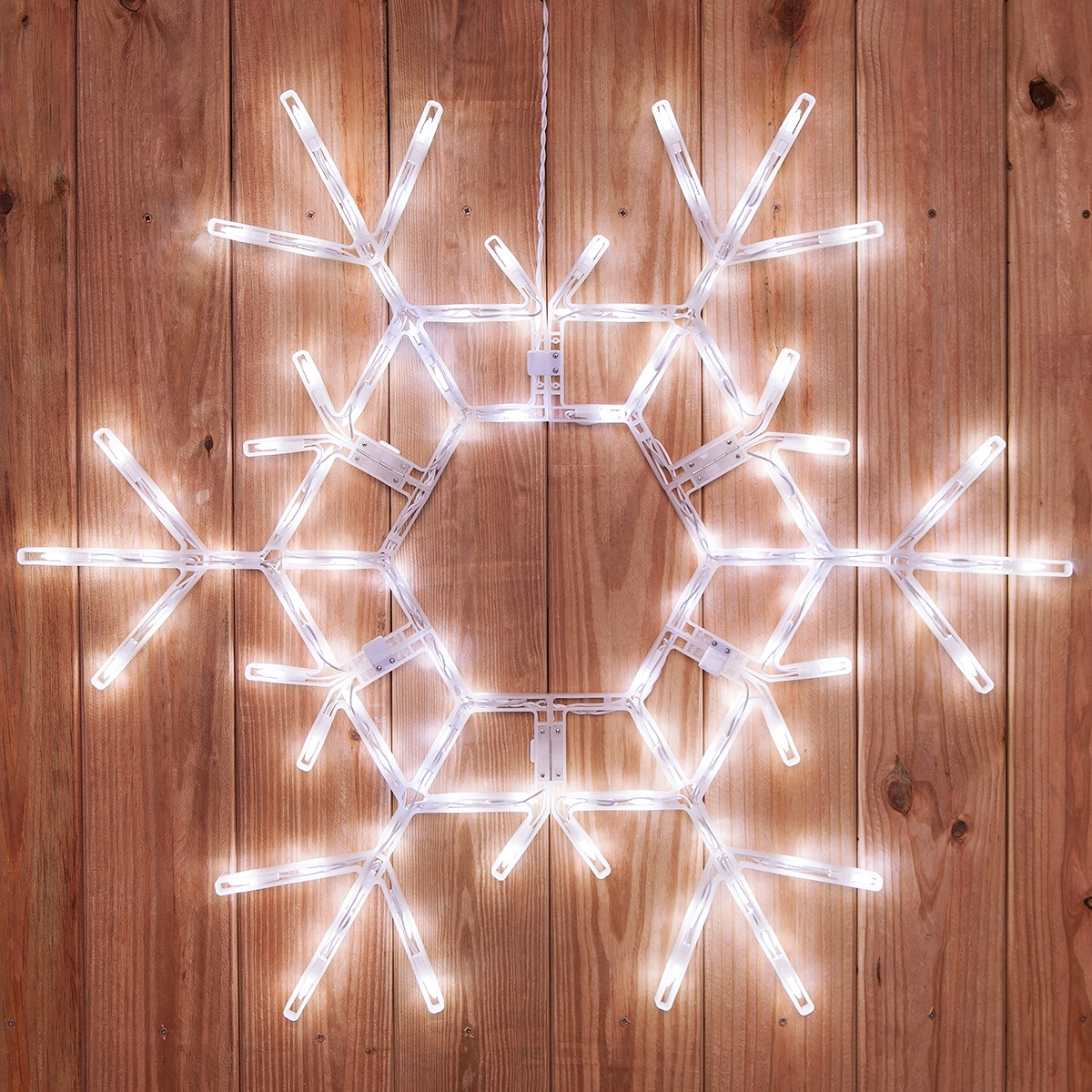 "Snowflakes & Stars – 36"" Led Folding Snowflake Decoration, 105 Cool Within Trendy Outdoor Hanging Snowflake Lights (View 19 of 20)"