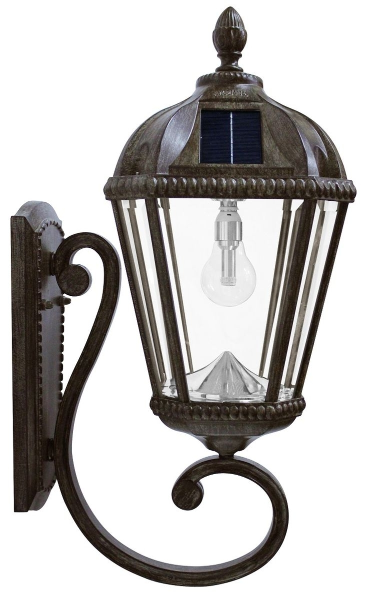 Solar Lamp In Outdoor Wall And Post Lighting (View 12 of 20)