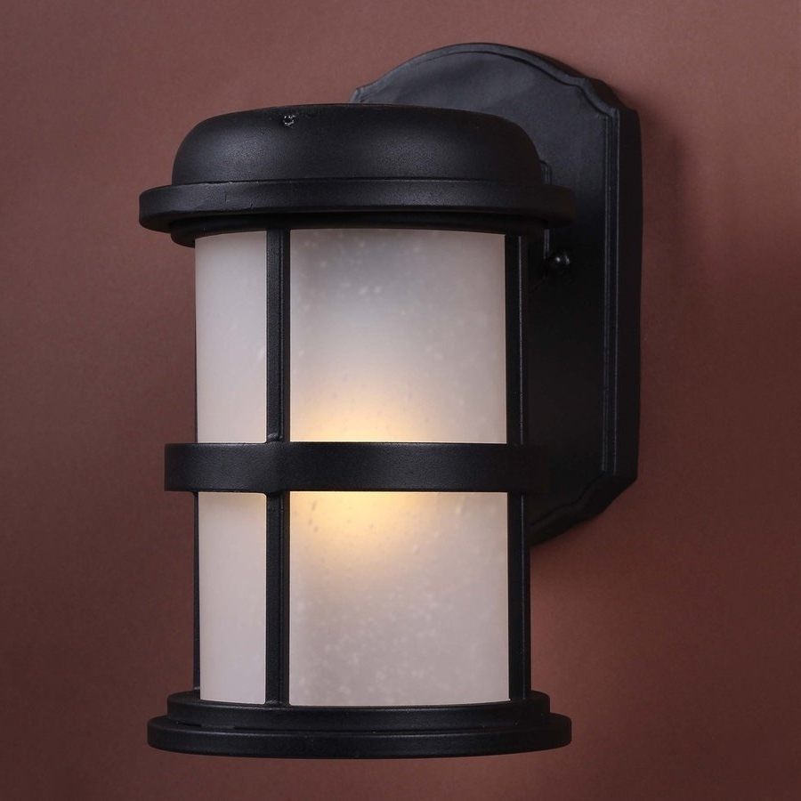Solar Led Outdoor Wall Lighting Regarding Fashionable Shop Volume International 9 In H Led Black Solar Outdoor Wall Light (View 9 of 20)