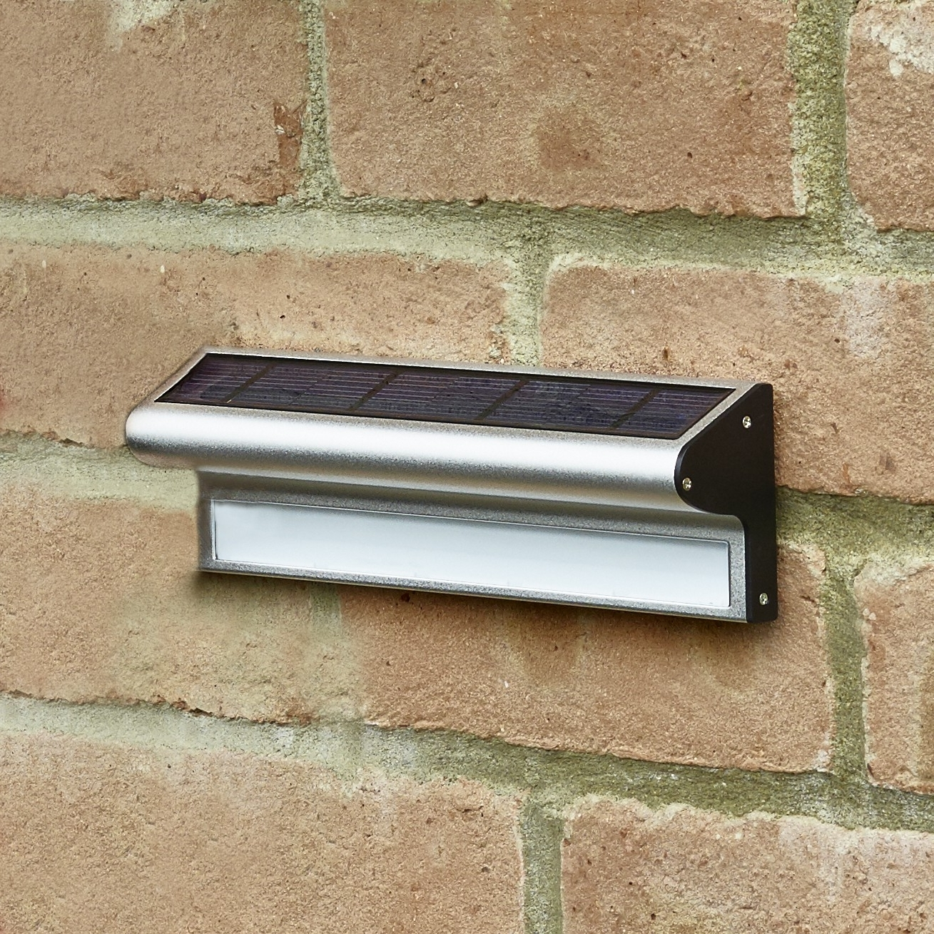 Solar Led Outdoor Wall Lighting Within Trendy Kensington Solar Led Wall Light – Lighting Direct (View 5 of 20)
