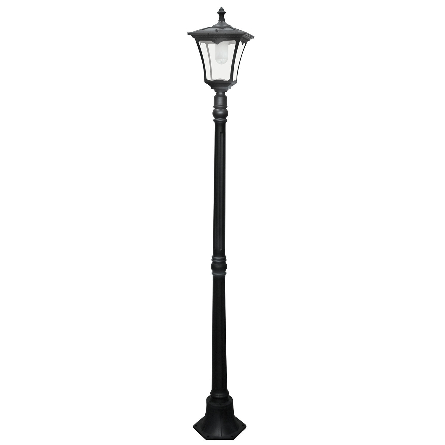 "Solar Led Powered 1 Light 80"" Post Lantern Set Wayfair, Outdoor Post Throughout Most Popular Wayfair Led Post Lights (View 12 of 20)"