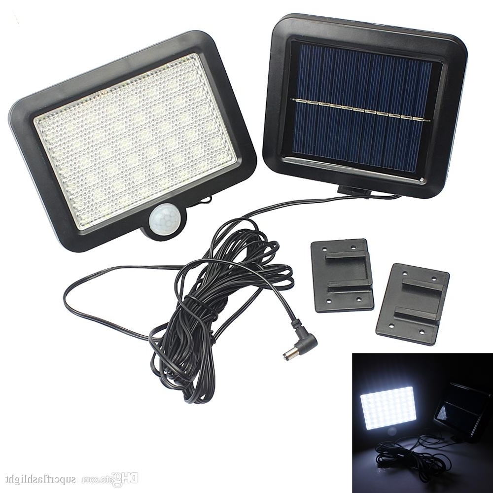 Solar Power Led Garden Lawn Lights Outdoor Pir Human Sensor 56 Led Pertaining To Best And Newest Pir Solar Outdoor Wall Lights (View 20 of 20)