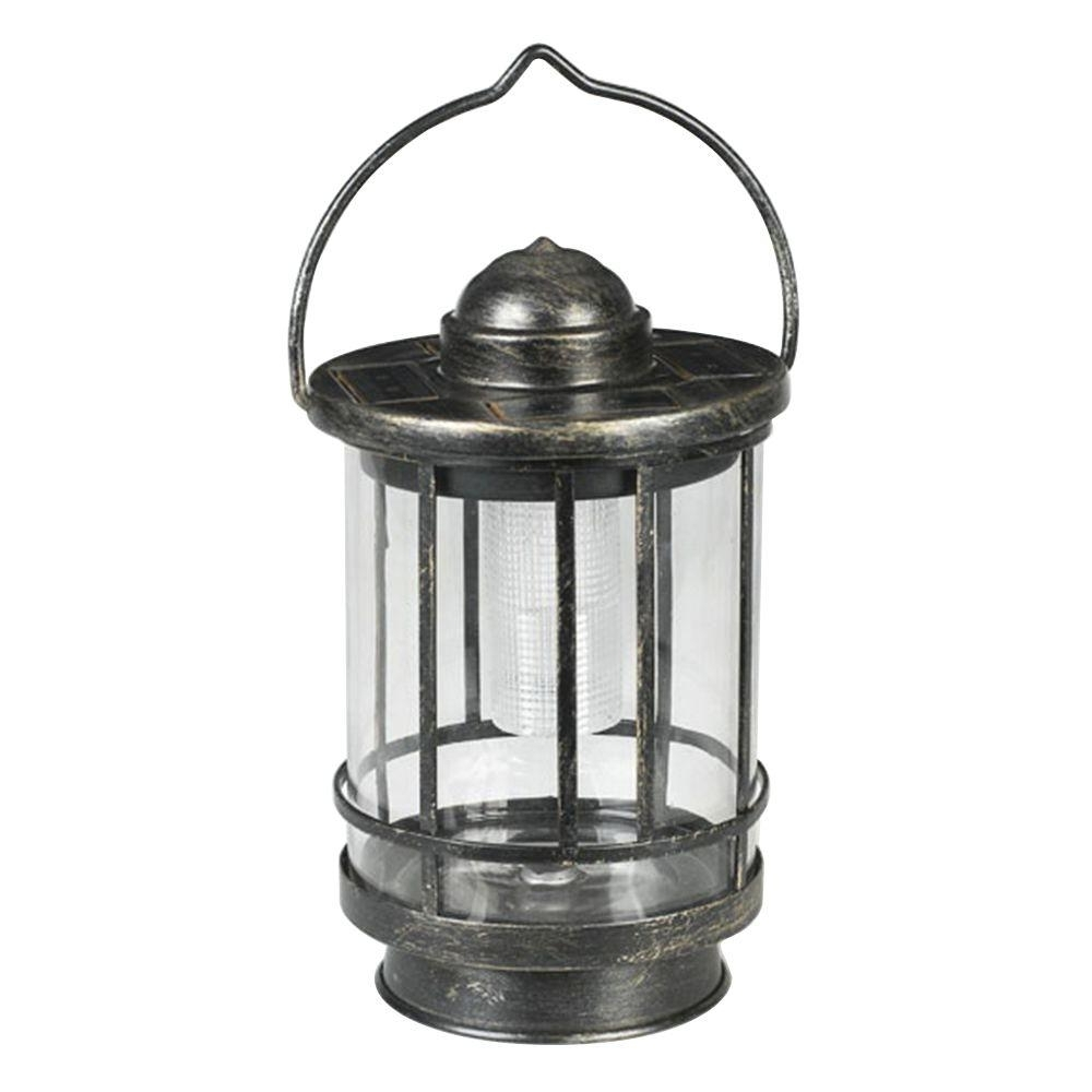 Solar Powered Outdoor Hanging Lanterns For Most Up To Date Duracell Solar Powered Outdoor Led Tabletop Lantern Mto012A R5 Aa  (View 13 of 20)