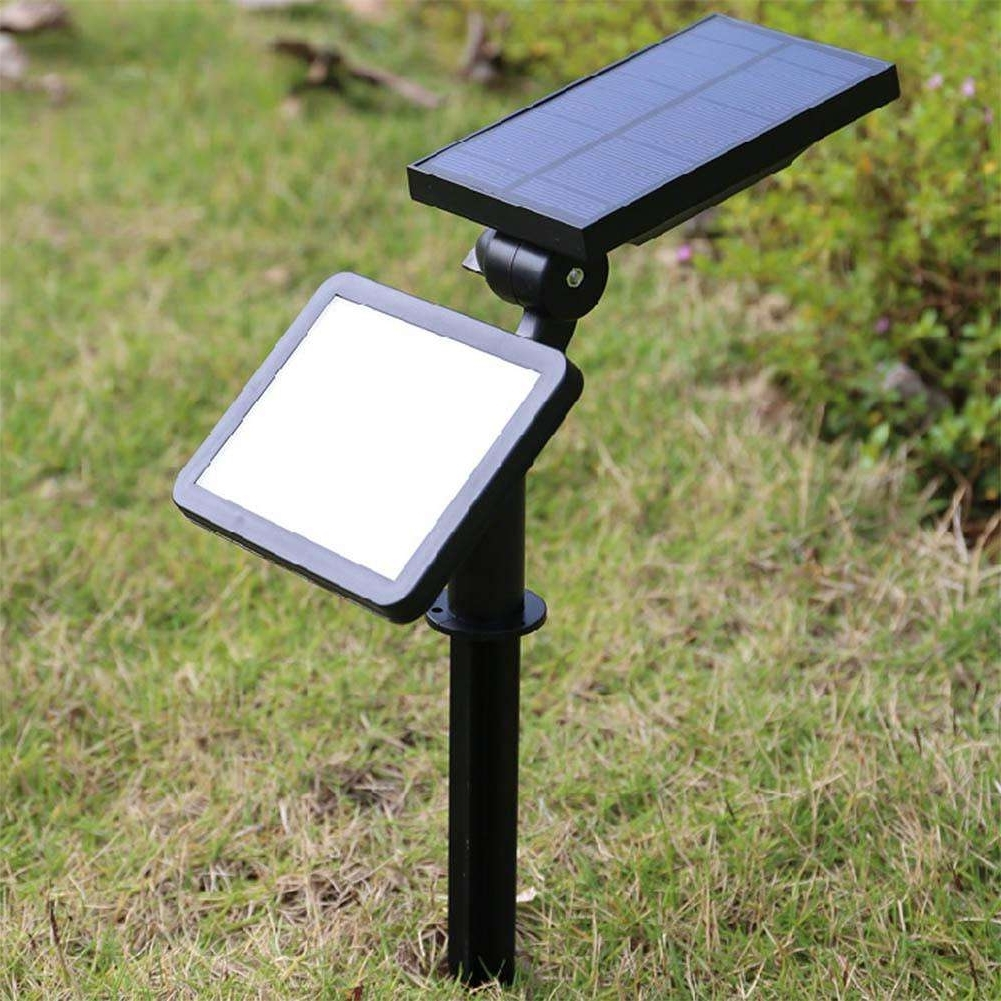 Solar Powered Outdoor Lights Pertaining To Favorite 48 Led Outdoor Lighting Garden Led Lawn Lamp Solar Powered Garden (View 8 of 20)