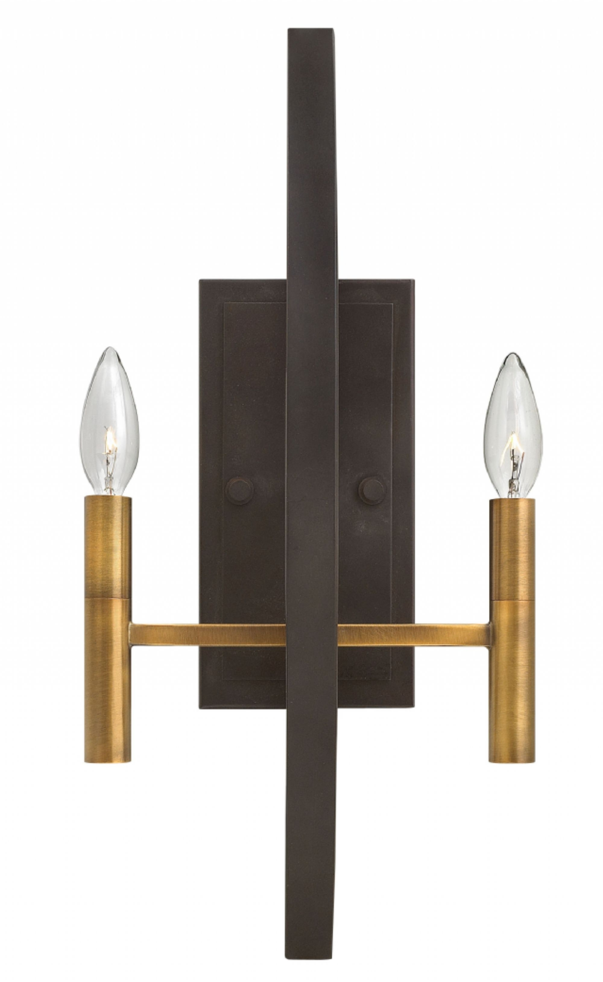 Spanish Bronze Euclid > Interior Wall Mount In Well Known Double Wall Mount Hinkley Lighting (View 7 of 20)