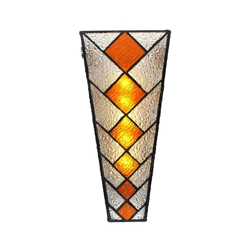 Stained Glass Outdoor Wall Sconce • Wall Sconces With Regard To Well Known Stained Glass Outdoor Wall Lights (View 17 of 20)