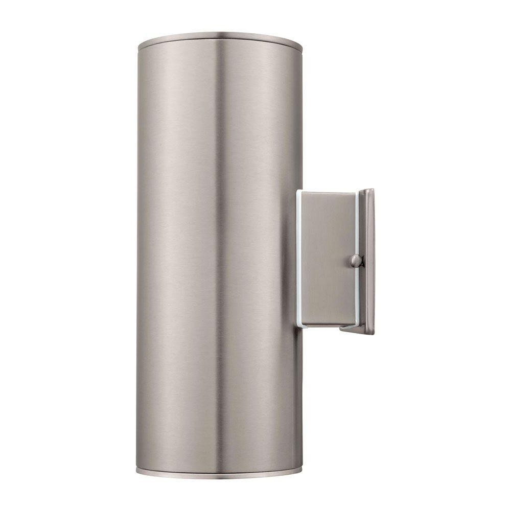 Stainless Steel Outdoor Ceiling Lights In Preferred Ascoli 2 Light Stainless Steel Outdoor Wall Mount Sconce 90121A (View 13 of 20)