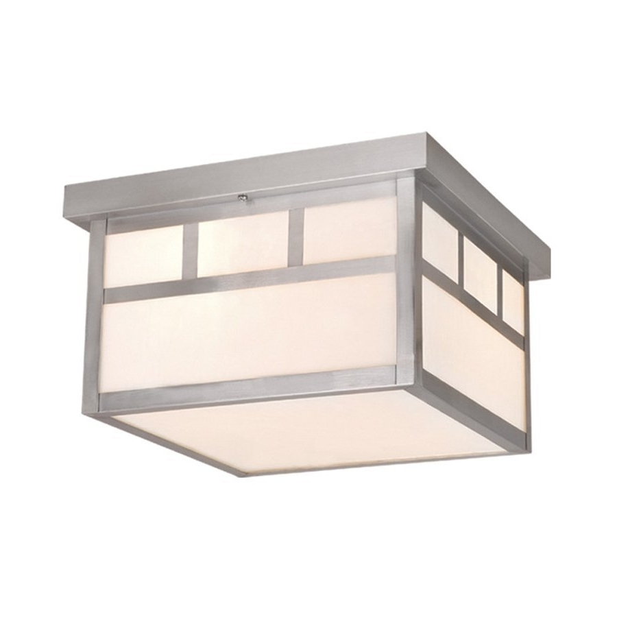 Stainless Steel Outdoor Ceiling Lights Regarding Most Recently Released Shop Cascadia Lighting Mission  (View 15 of 20)