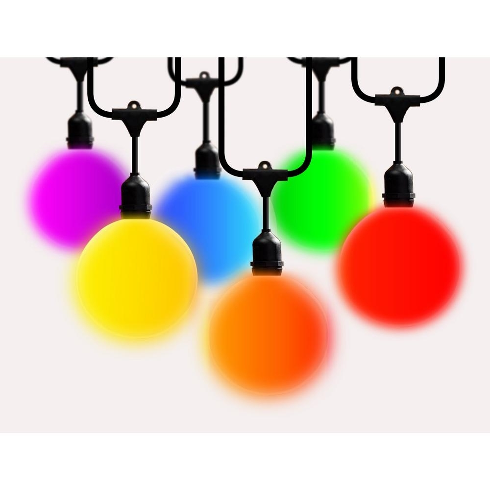 String Lights – Outdoor Lighting – The Home Depot With Well Liked Outdoor Plastic Hanging Lights (View 17 of 20)