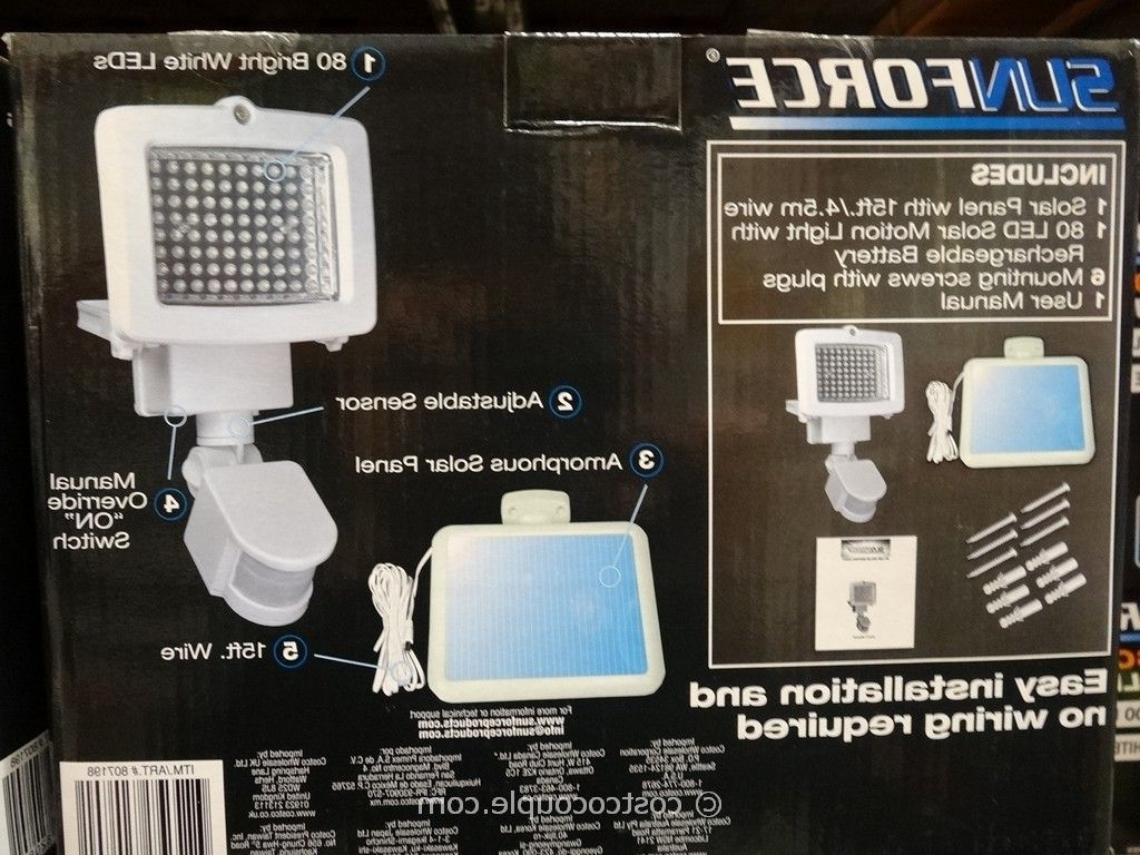 Sunforce 80 Led Solar Motion Light Within Recent Solar Garden Lights At Costco (View 19 of 20)