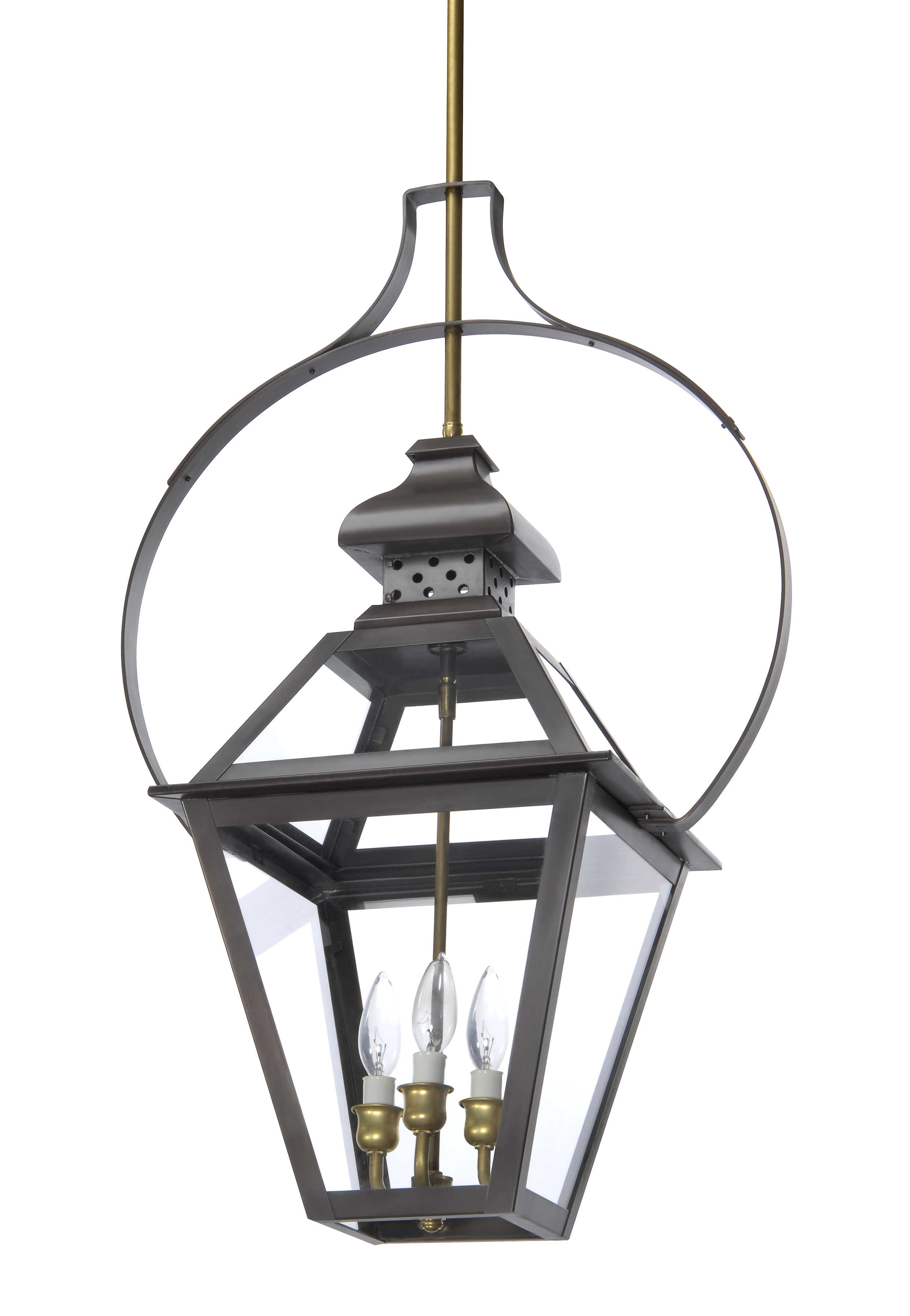 T 33 – Hanging Light, Copper Lantern, Gas And Electric Lighting For Most Recent Electric Outdoor Hanging Lanterns (View 9 of 20)