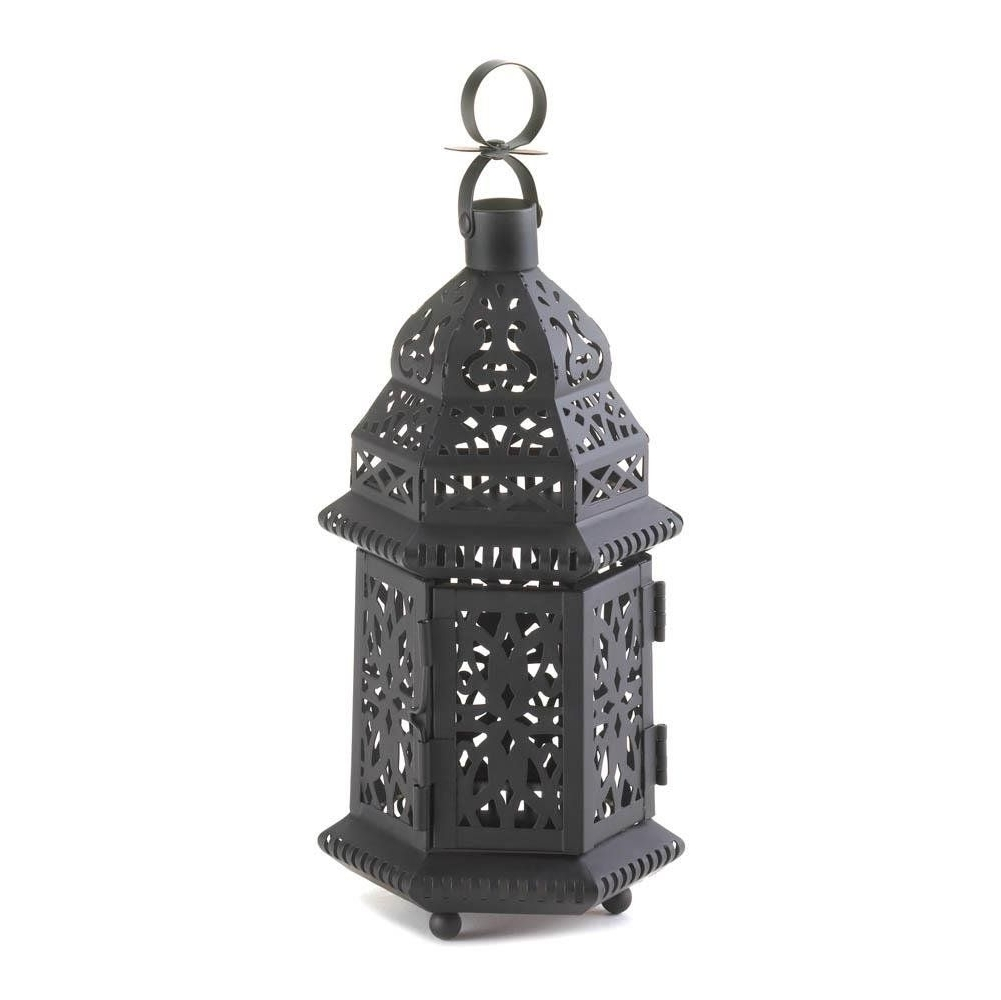The Best Metal Moroccan Hanging Decorative Floor Patio Lantern Of With Regard To 2018 Outdoor Hanging Garden Lanterns (View 18 of 20)