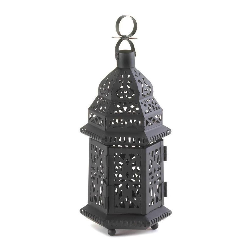 The Best Metal Moroccan Hanging Decorative Floor Patio Lantern Of With Regard To 2018 Outdoor Hanging Garden Lanterns (View 8 of 20)