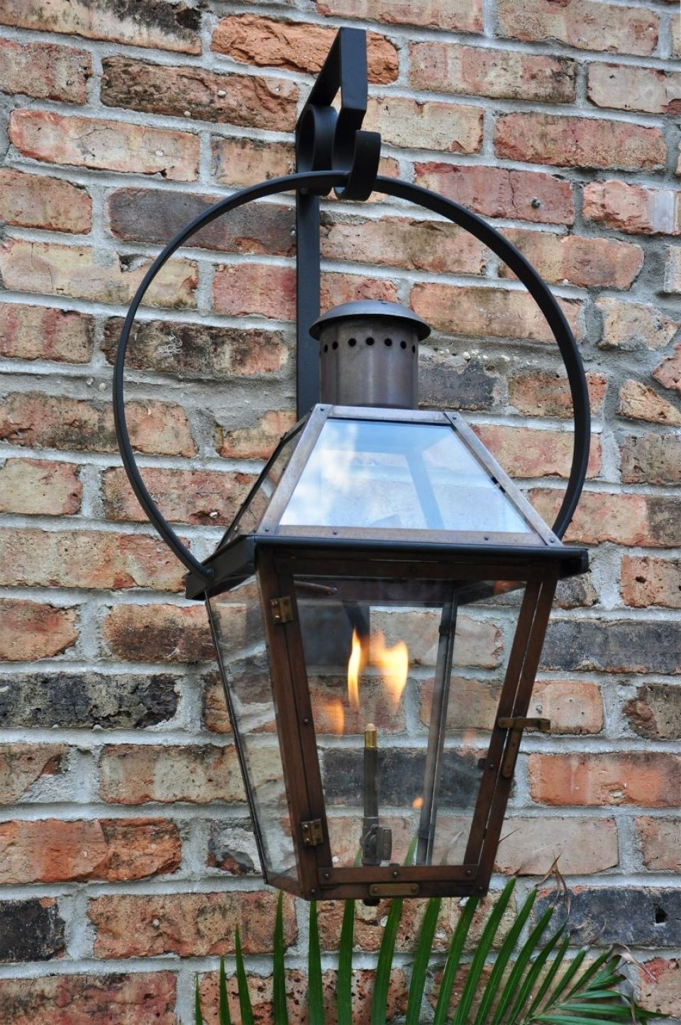 The French Quarter On Yoke Hanger Pertaining To Outdoor Hanging Gas Lanterns (View 18 of 20)