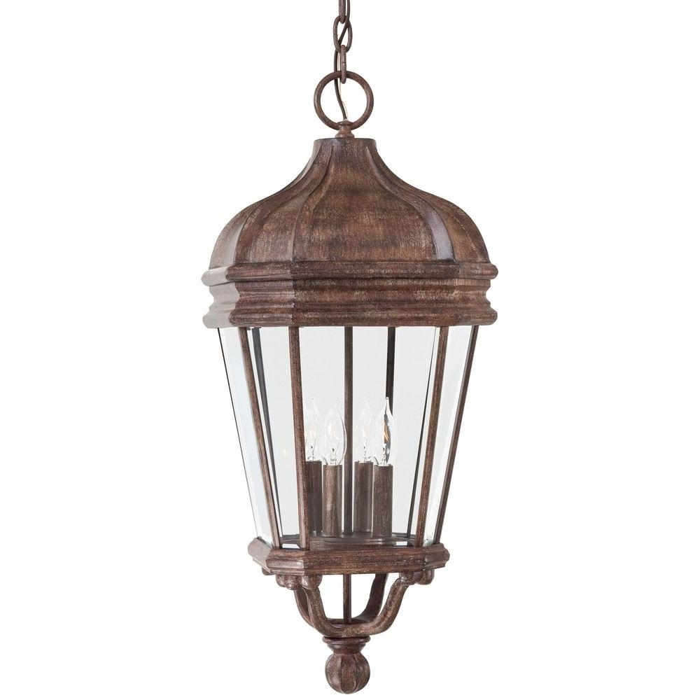 The Great Outdoorsminka Lavery Harrison Vintage Rust 4 Light In Well Known Outdoor Hanging Lanterns At Amazon (View 19 of 20)