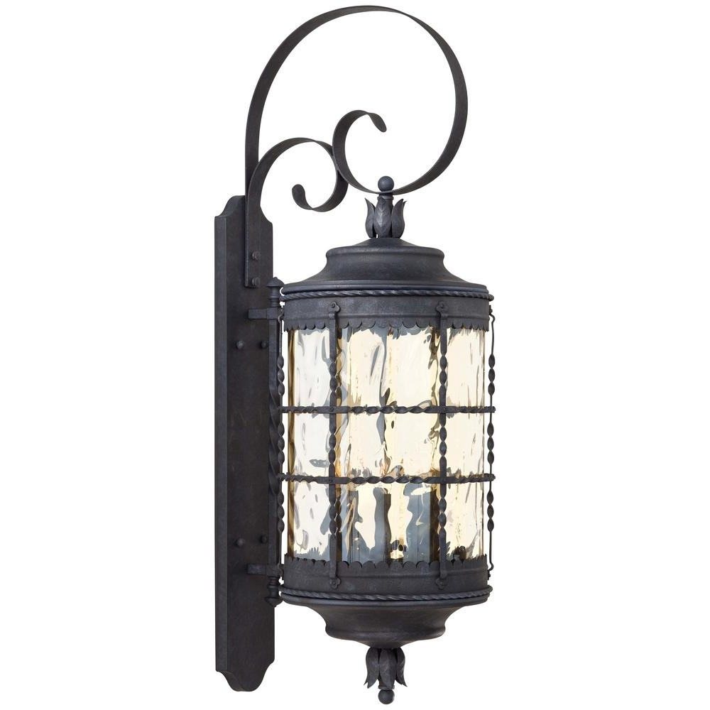 The Great Outdoorsminka Lavery Mallorca 5 Light Spanish Iron Intended For Newest Tuscan Outdoor Wall Lighting (View 16 of 20)