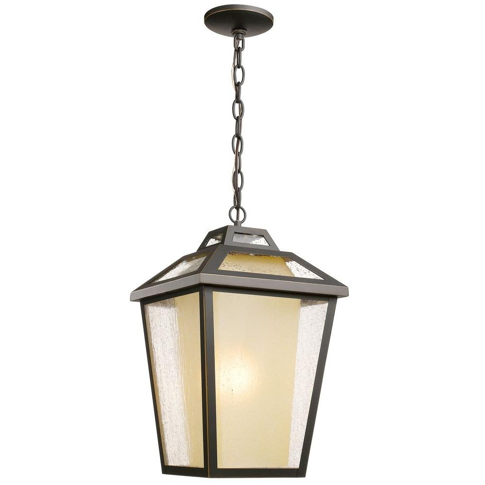 The Great Outdoorsminka Lavery Sage Ridge Vintage Rust 1 Light Pertaining To Best And Newest Indoor Outdoor Hanging Lights (View 12 of 20)