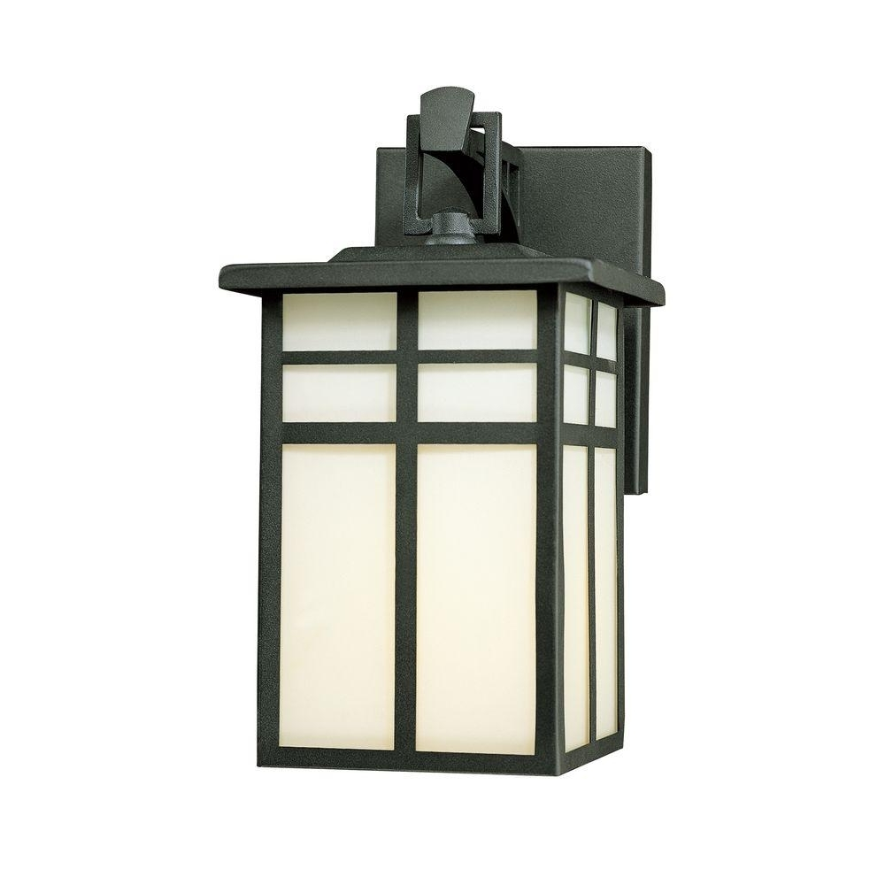 Thomas Lighting Mission 1 Light Black Outdoor Wall Mount Lantern In Well Known Outdoor Wall Porch Lights (View 14 of 20)