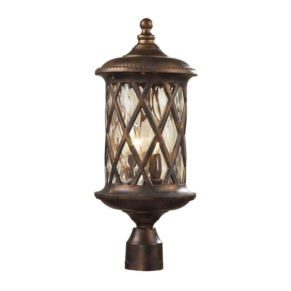 Titan Lighting Barrington Gate 2 Light Outdoor Hazelnut Bronze Post Pertaining To Most Up To Date Outdoor Post Lights Kichler Lighting (View 20 of 20)