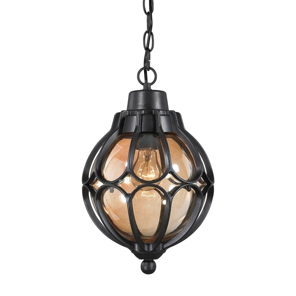 Titan Lighting Madagascar 1 Light Matte Black Outdoor Pendant Tn Pertaining To Most Current Houzz Outdoor Hanging Lights (View 13 of 20)