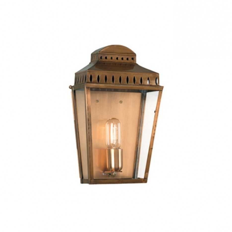 Traditional Antique Brass Single Bulb Lighting Exterior Garden Wall Pertaining To Favorite Georgian Style Outdoor Lighting (View 17 of 20)
