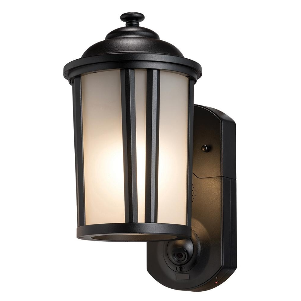 Traditional Outdoor Wall Lights Inside Fashionable Maximus Traditional Smart Security Textured Black Metal And Glass (View 15 of 20)