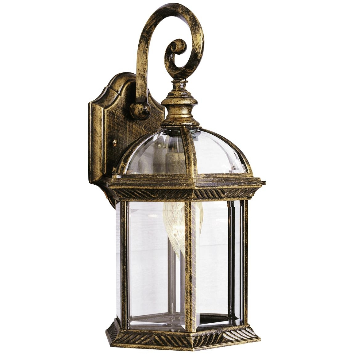 Trans Globe Lighting 1 – Light Outdoor Black And Gold Wall Lantern Throughout Current Outdoor Wall Lantern By Transglobe Lighting (View 18 of 20)