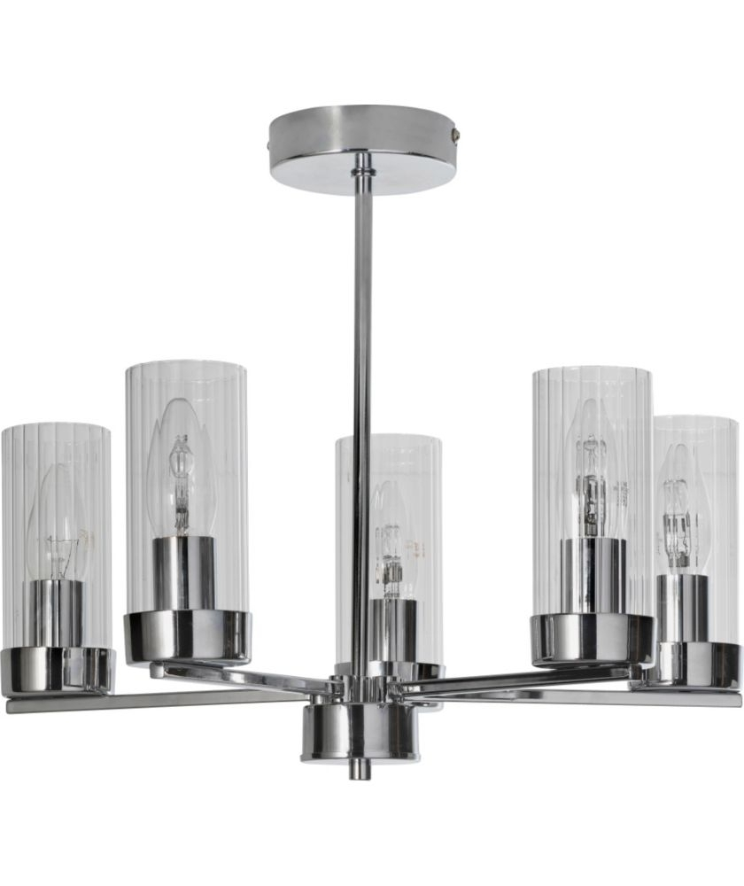 Trendy Argos Outdoor Wall Lighting Within Buy Heart Of House Wallis 5 Light Ceiling Fitting – Chrome At Argos (View 15 of 20)