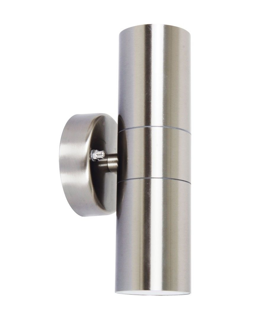 Trendy Beacon Lighting Outdoor Wall Lights Regarding Lucci Project Up/down Exterior Wall Bracket In Stainless Steel $ (View 15 of 20)