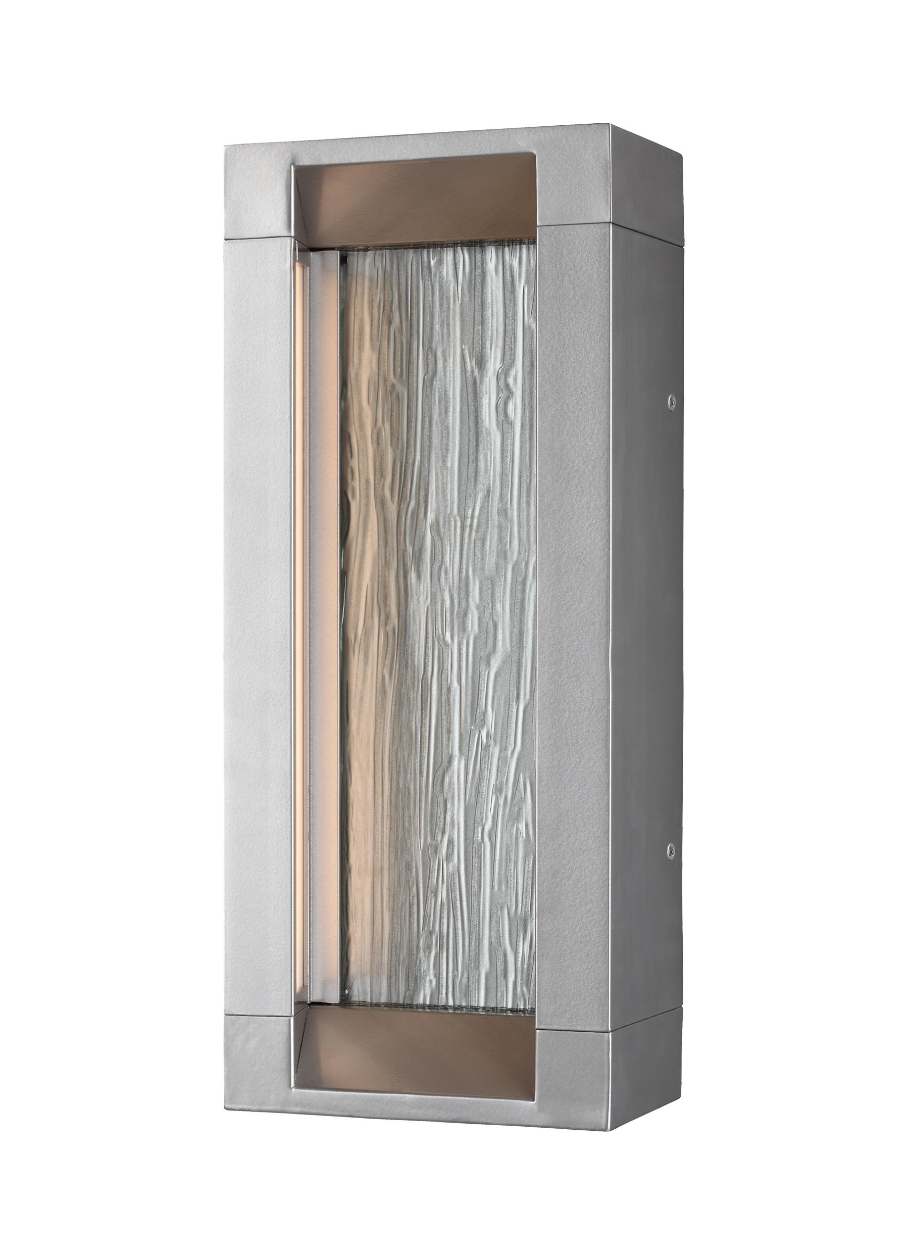 Trendy Best Outdoor Wall Led Lights Throughout Ol11601psi Led,2 – Light Outdoor Led Wall Lantern,painted Silver (View 2 of 20)