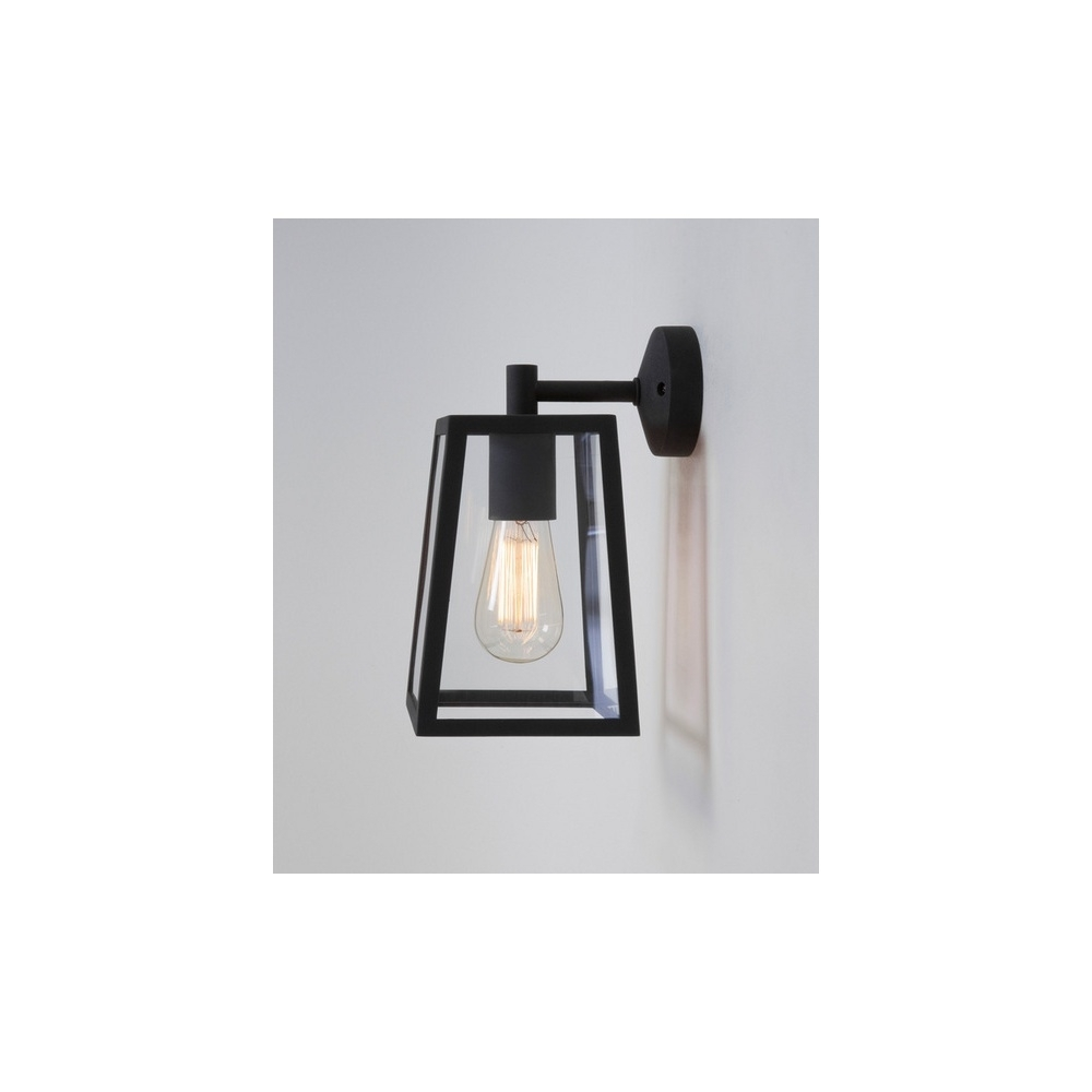 Trendy Black Outdoor Wall Lighting Throughout Astro Lighting 7105 Calvi 1 Light Outdoor Wall Light In Painted (View 16 of 20)