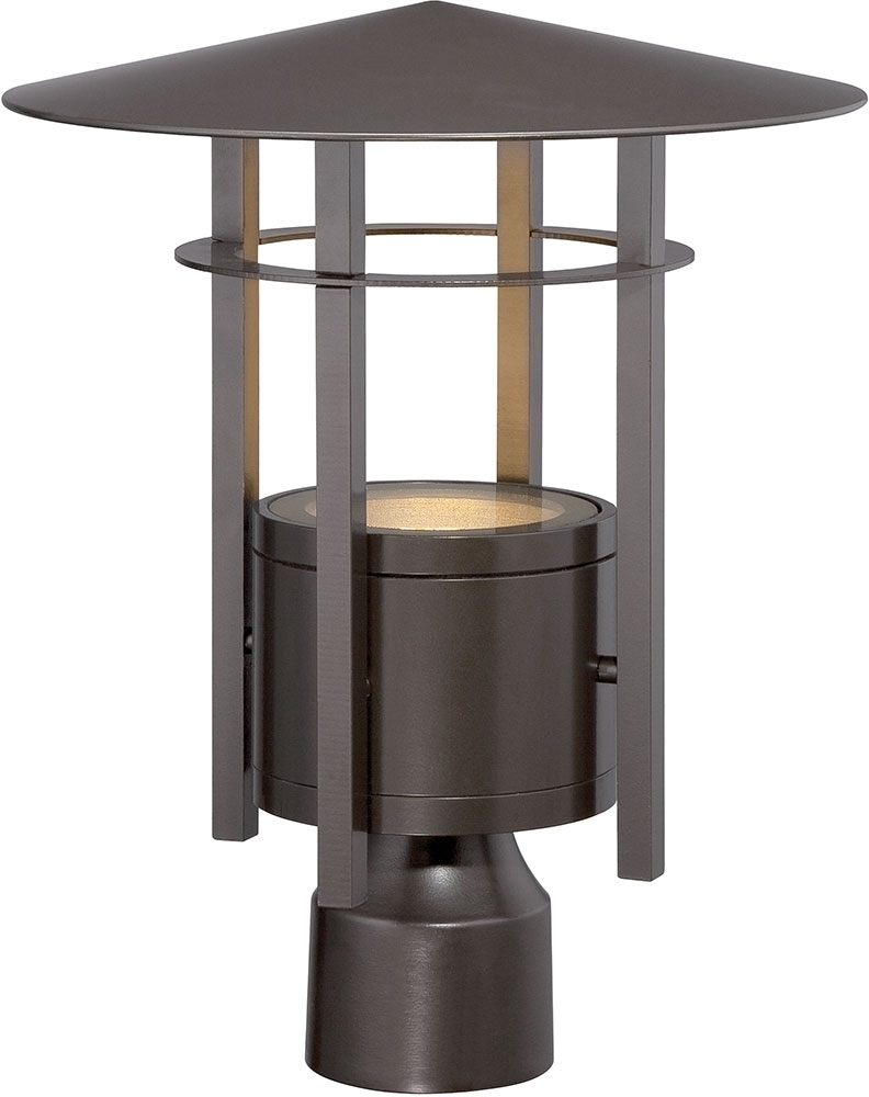 Trendy Contemporary Led Post Lights For Mini Garden Intended For Designers Fountain Led34036 Bnb Englewood Modern Burnished Bronze (View 17 of 20)