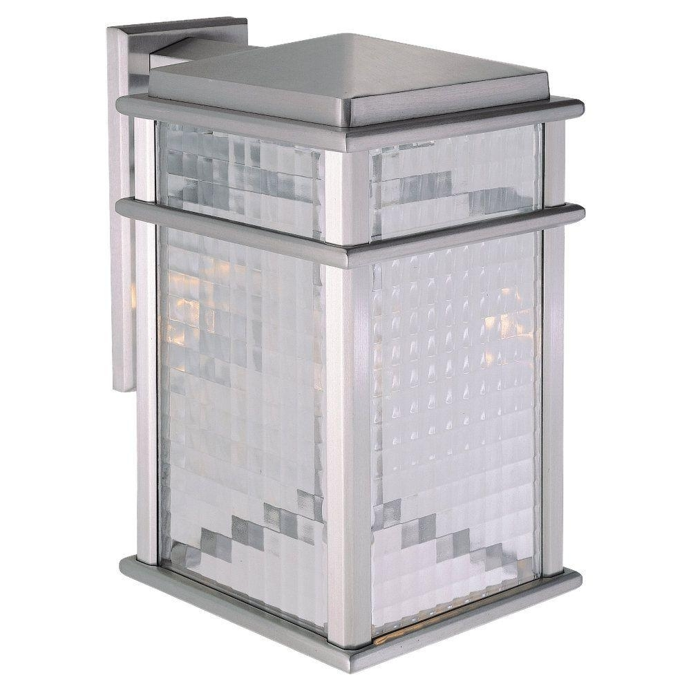 Trendy Feiss Mission Lodge 1 Light Brushed Aluminum Outdoor Wall Lantern Inside Aluminum Outdoor Wall Lighting (View 16 of 20)